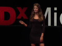 Model Cameron Russel talks about image on TED