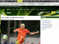 UEFA.com puts Lucas Woudenberg on their 'Ten Under-19 talents to watch' list